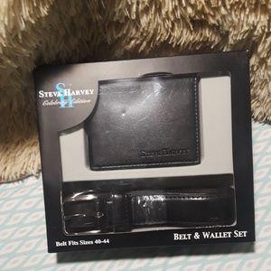 Steve Harvey Celebrity Edition Belt and Wallet Set
